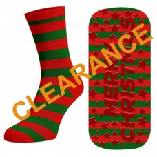 Christmas  Trampoline Jump Socks (Crew - $0.69 per pair)