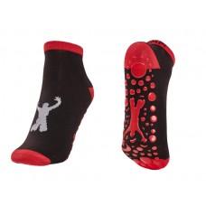 """Black/Red Trampoline Jump Socks  Size XS - 5"""""""