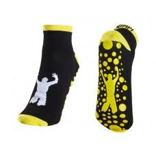 """Black/Yellow Trampoline Jump Socks  Size XS -5"""""""