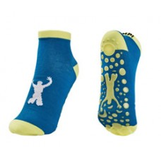 "Blue/Yellow   Trampoline Jump Socks  Size XS - 5"""